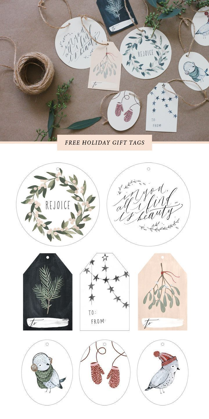Photo of Free Printable Gift Tags – The Inspired Room