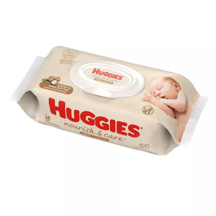 Huggies Nourish & Care Baby Wipes 56ct in 2020 Baby