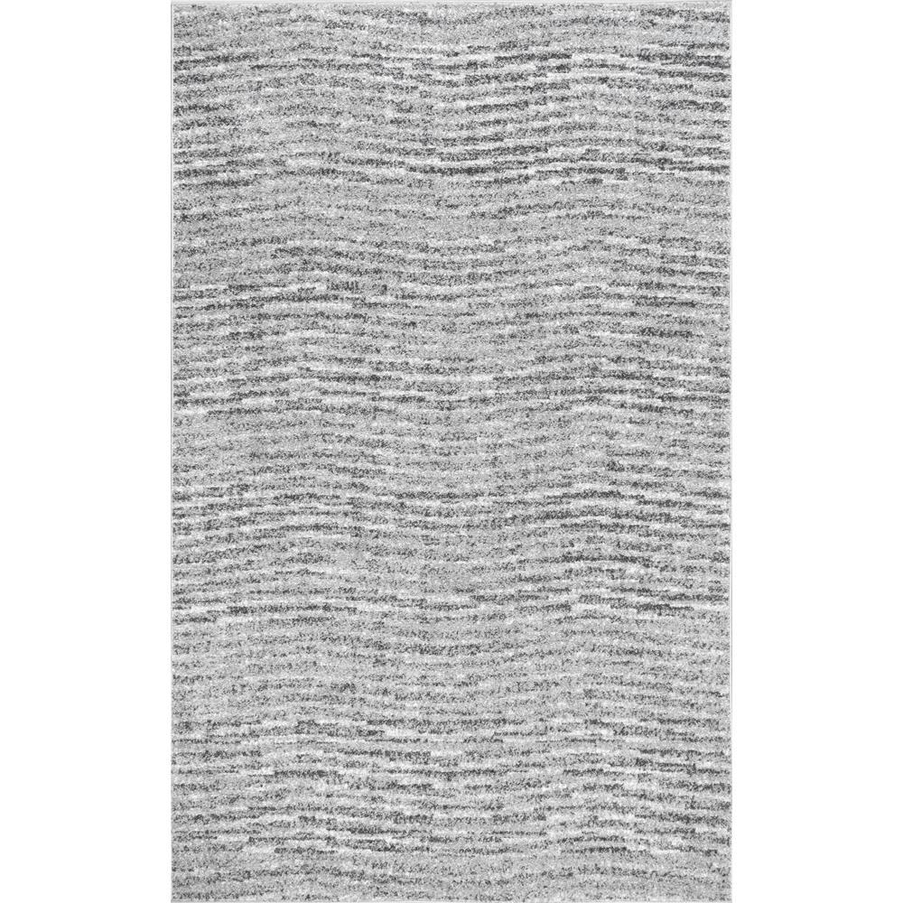Nuloom Sherill Modern Ripples Gray 12 Ft X 15 Ft Area Rug Bdsm01a 12015 The Home Depot In 2020 Grey Area Rug Rugs Area Rugs