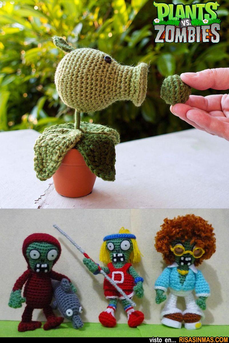 Amigurumis de Plantas vs Zombies. | personajes | Pinterest | Häkeln ...
