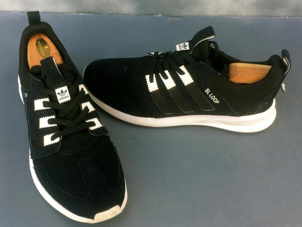 e65a5fa6e72 ADIDAS SL LOOP SNEAKER BLACK~SIZE 12~SUEDE ACCENTS~Lace up closure ~GOOD  COND #adidas #FashionSneakers