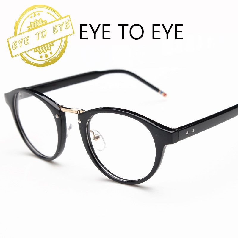 Korean glasses frames round metal frame glasses vintage spectacle ...