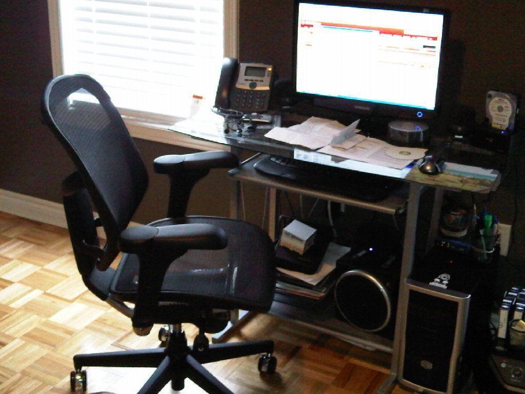 computer Schreibtisch mit Stuhl moderner home office Möbel In den ...