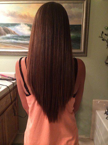 Sie diese einfachen frisuren fr glattes haar long hairstyles simple haircut v shaped 2017 haiestyles winobraniefo Images