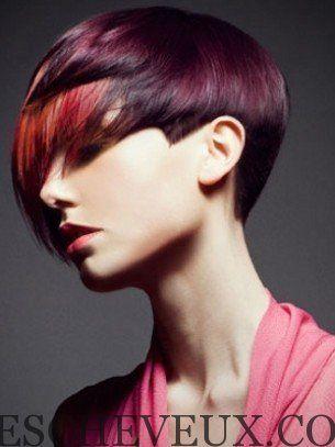 Coupe de cheveux courte et couleur