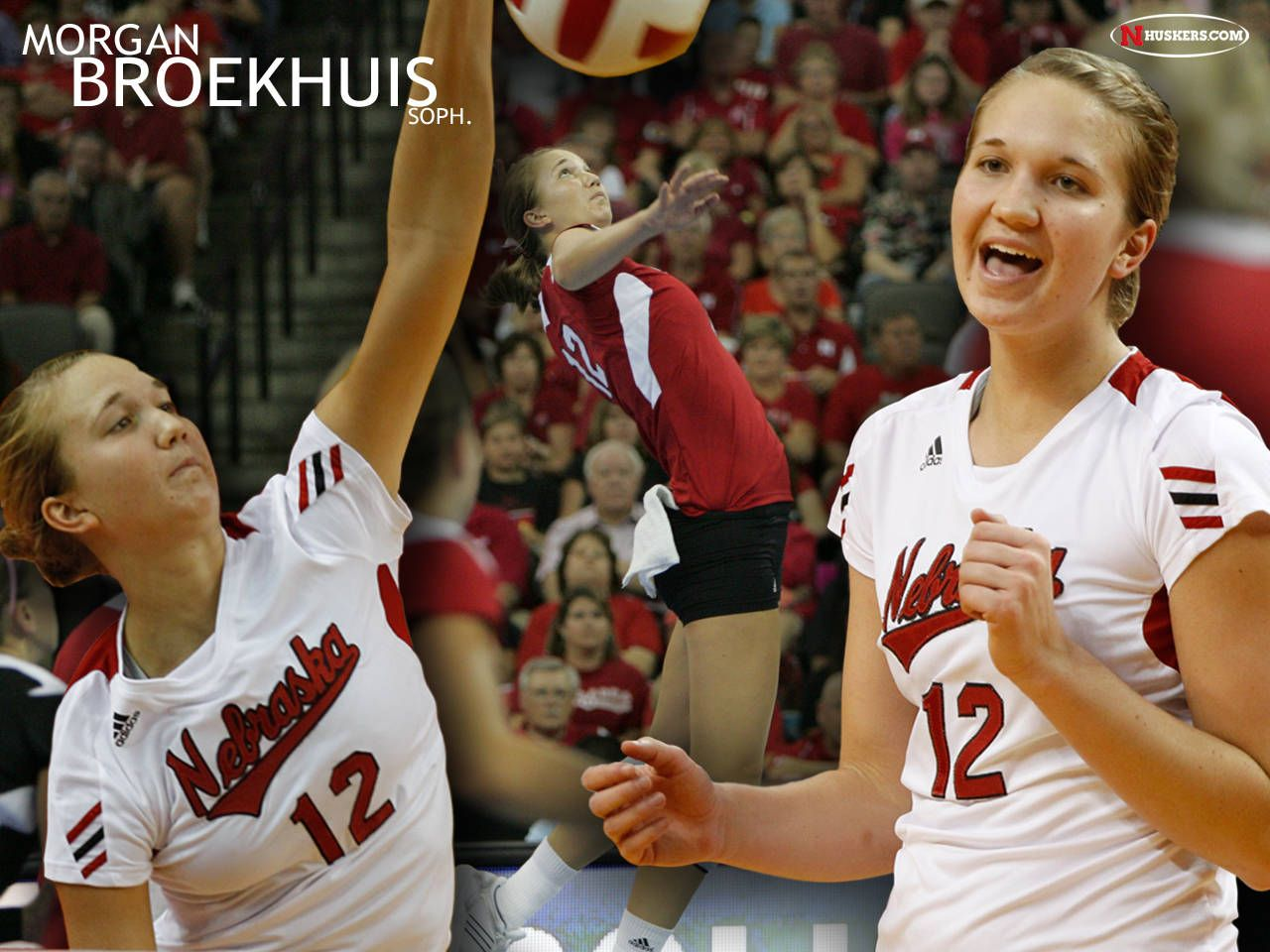Volleyball Wallpapers Huskers Com Nebraska Athletics Official Web Site Volleyball Wallpaper Athlete Volleyball