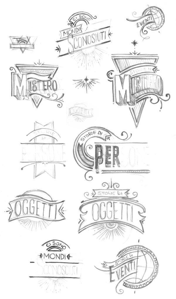 Typographic ID's - History Channel by Santiago Wardak, via Behance
