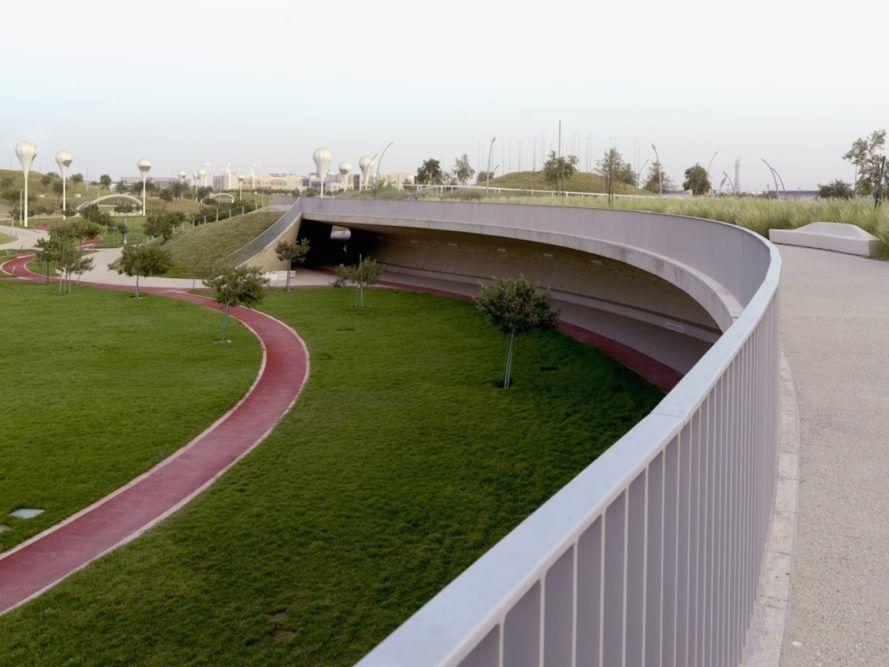 Subterranean Oxygen Park Is A Breath Of Fresh Air In The Qatari Desert Education City Landscape Design Breath Of Fresh Air