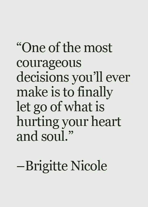 sometimes you gotta let go...