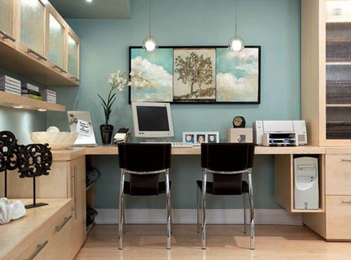 blue-study-room-wall-color.jpg 700×519 pixels | Decor ideas for the ...