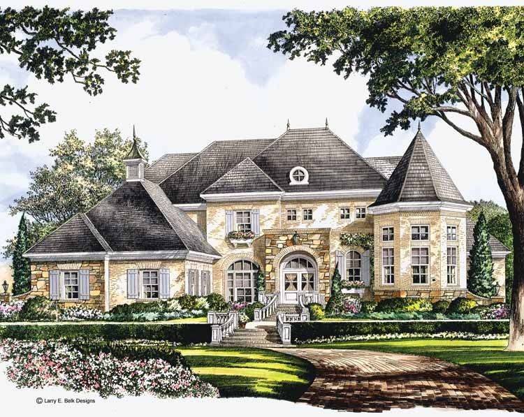 European Style House Plan 5 Beds 7 5 Baths 9529 Sq Ft Plan 119 178 French Country House French Country House Plans Luxury House Plans