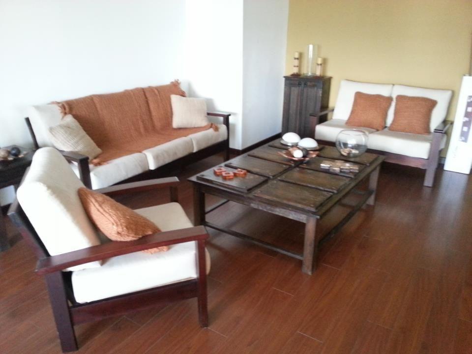 Estilo y comodidad precio q6 500 iva amueblado de sala 3 2 1 madera de cedro y cojines de for Salas modernas precios