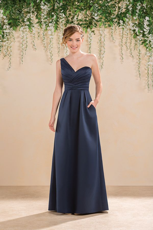 Jasmine Spring 2016 B2 B183020 Strictly Weddings Navy Blue Bridesmaid Dresses