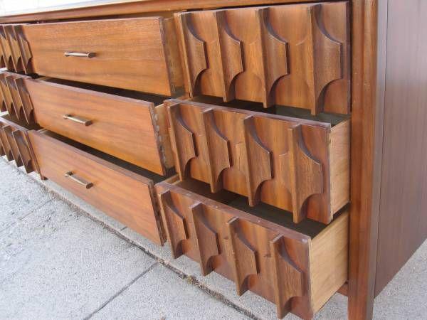 Broyhill Brasilia Long Dresser 9 Drawer Broyhill Brasilia Broyhill Mid Century Furniture
