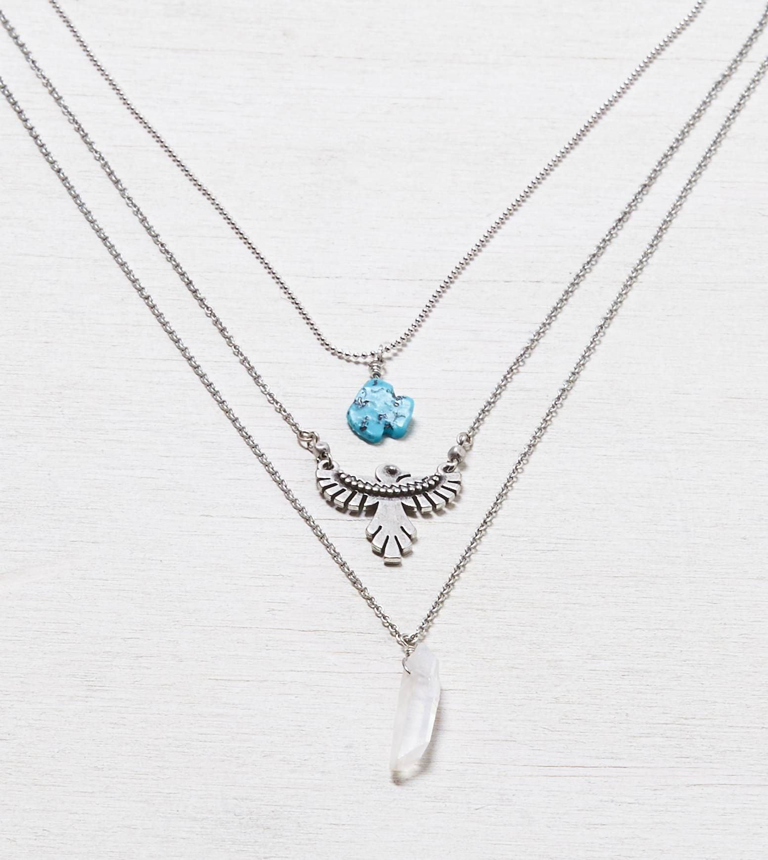 Necklace Turquoise medallion American Eagle accessories statement jewelry