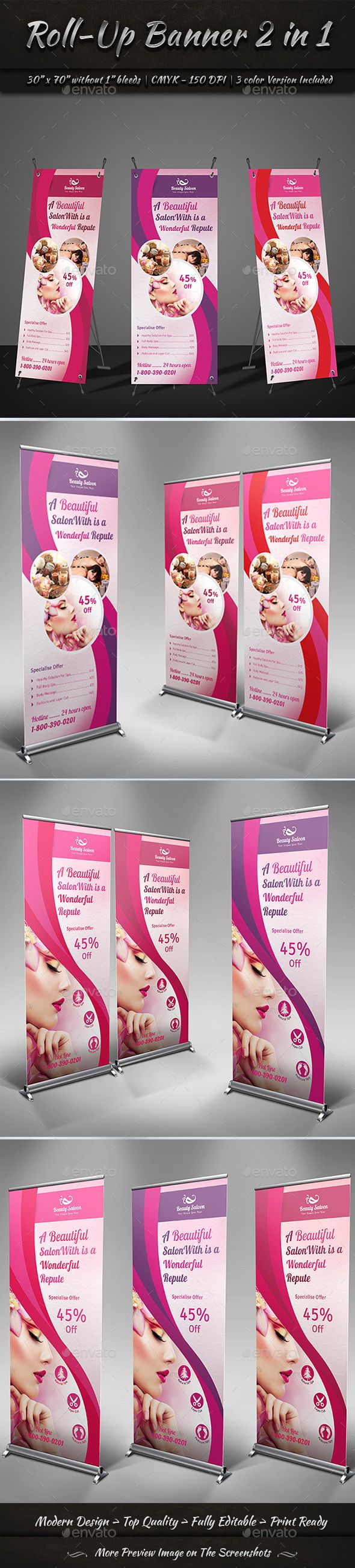 Roll-Up Banner 2 in 1 by GraphicShaper Roll-Up Banner 2 in 1 is a designed for A...