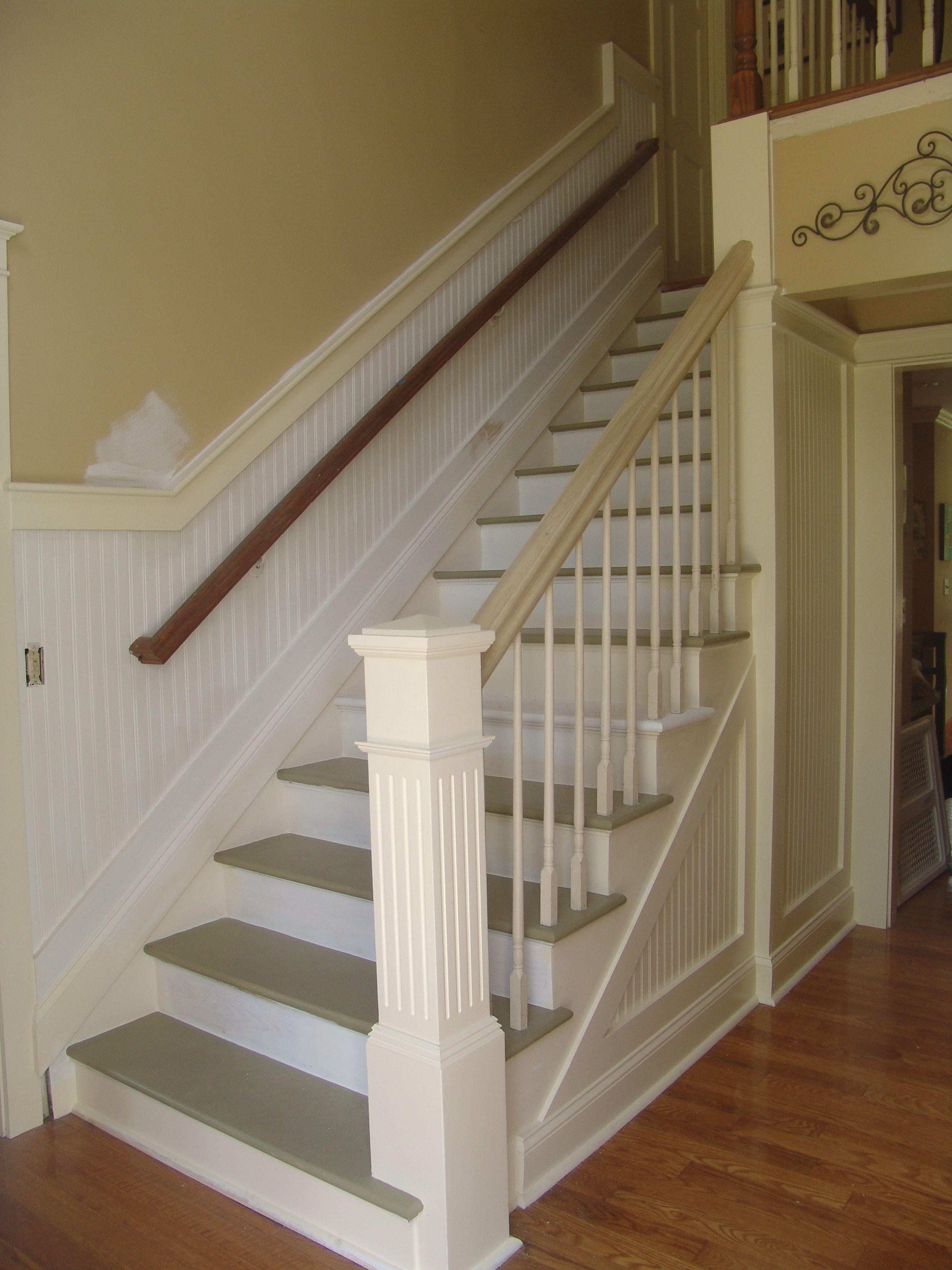Custom Newel Post Stairway Upgrade From Carpet To The Beginnings Of Thiscustom