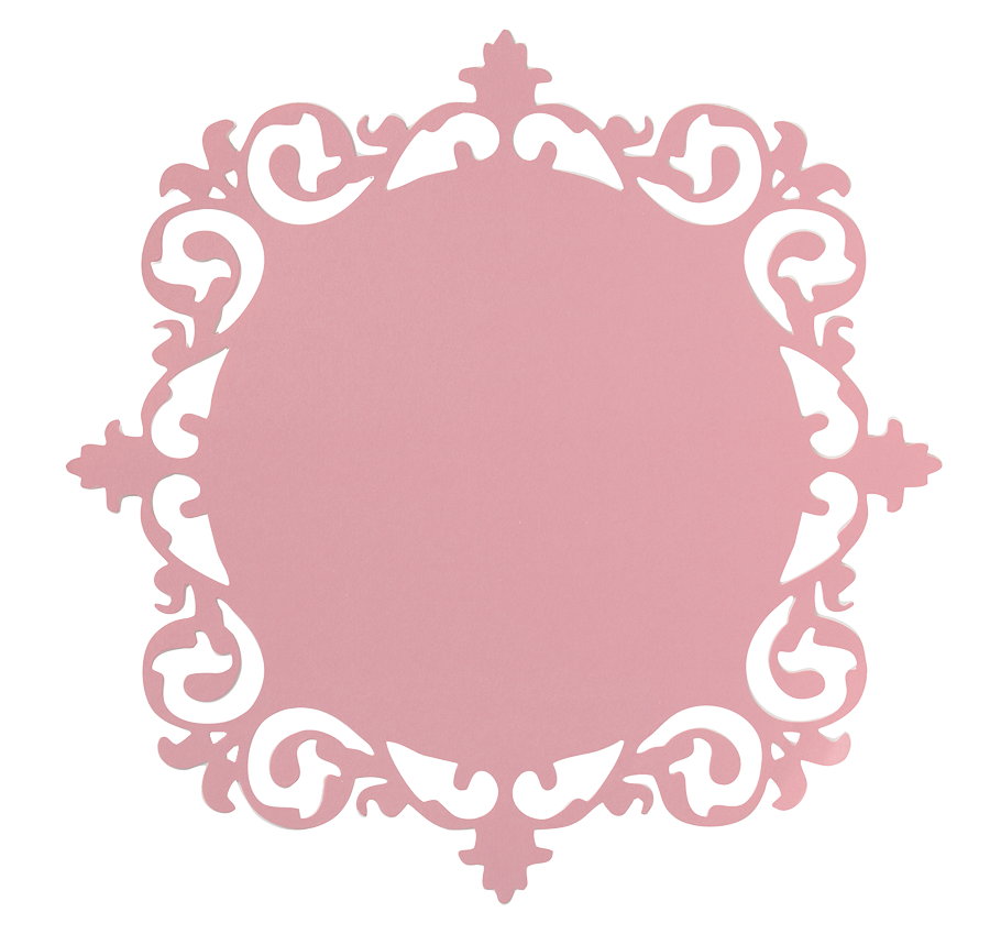 Ornate frame pink 12x12 cardstock paper crafts cutting for Marietta square tattoo