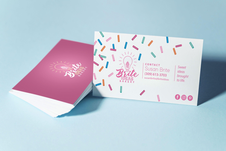 Bakery Business Card Design By Nicole Medlin Bakery Business Cards Graphic Design Business Card Business Card Design