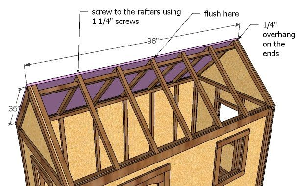Ana White | Build A Playhouse Roof | Free And Easy DIY Project And  Furniture Plans