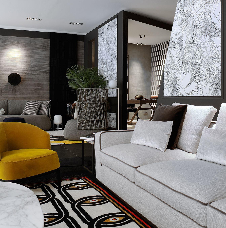 cartier d coration maxalto cc tapis v ronique de soultrait salon modern interiors. Black Bedroom Furniture Sets. Home Design Ideas
