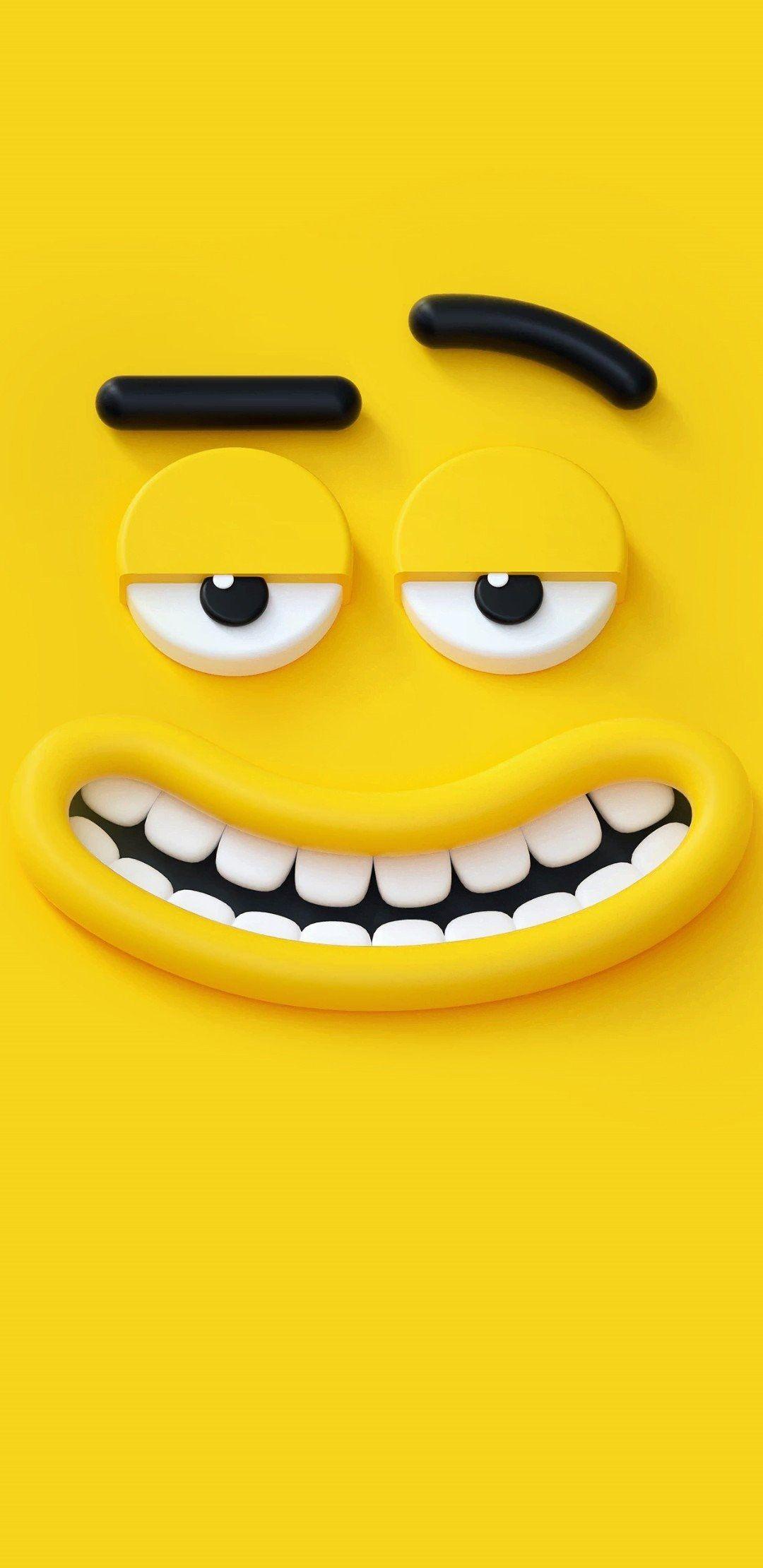 Yellow Cartoon Wallpaper Emoji Wallpaper Cartoon Wallpaper Hd