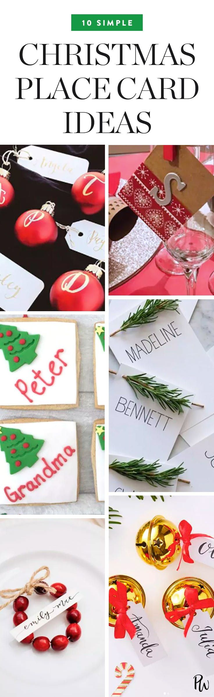 10 Simple Christmas Place Card Ideas for Your Holiday Table ...