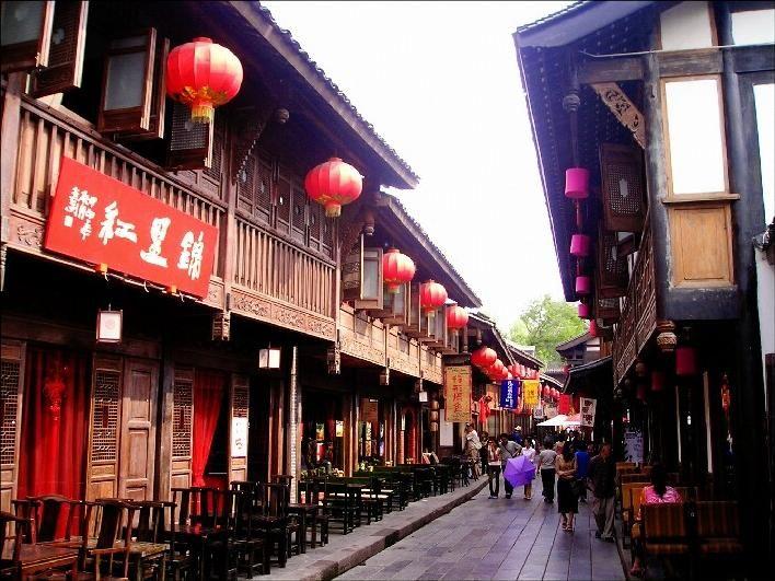 Rua Jingli, em Chengdu