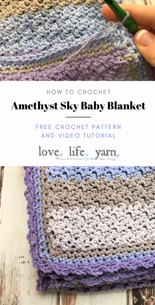 Photo of Amethyst Sky Baby Blanket – Free Crochet Pattern
