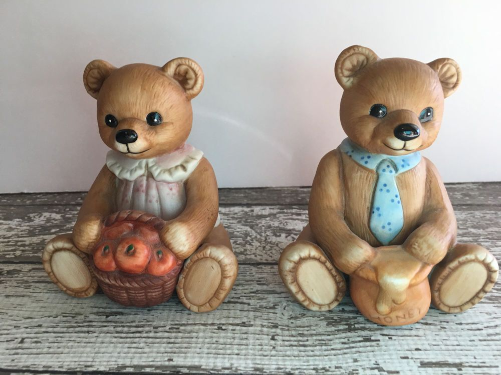 HOMCO Home Interior #1405 SET OF 2 LARGE FAMILY BEARS