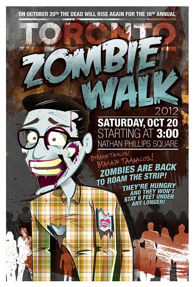 #zombie walk poster