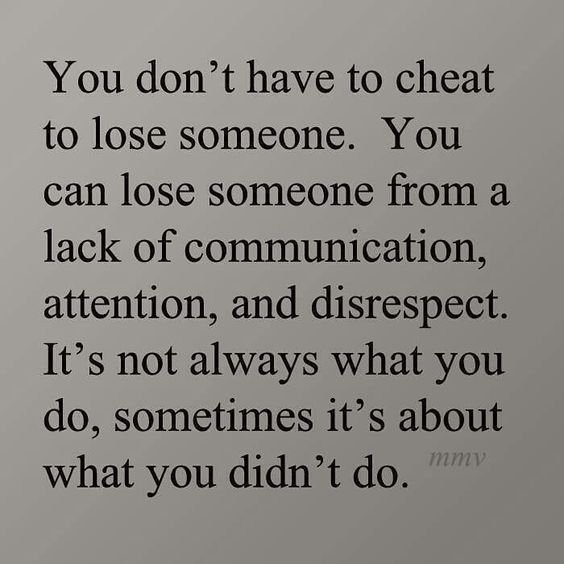 You don't have to cheat to lose someone