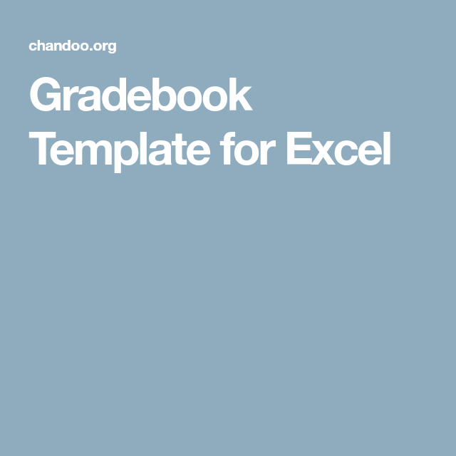 Gradebook Template For Excel  Excel    Project