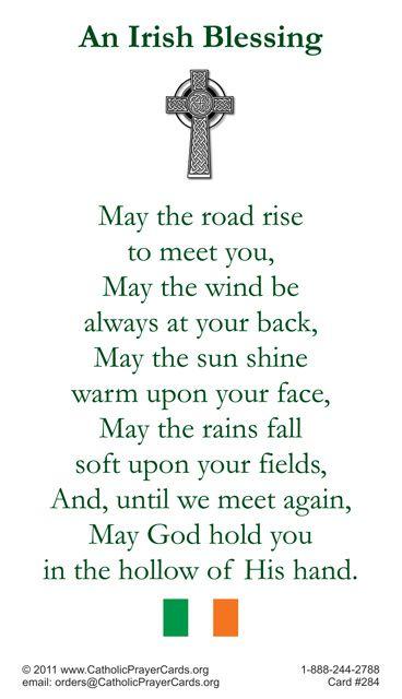 Irish Blessing Prayer Card | Catholicism | Pinterest | Prayers ...