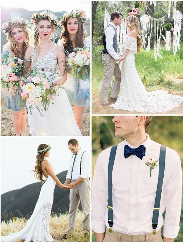 Un mariage tendance de style bohème chic