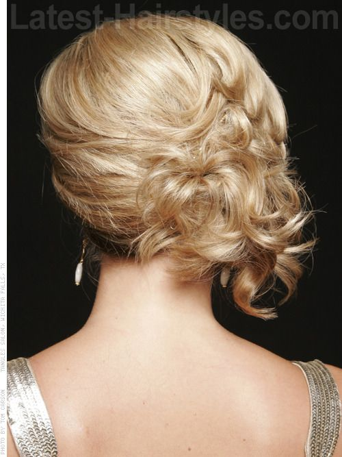 The Sweet Side Blonde Updo Back View Up Do Pinterest