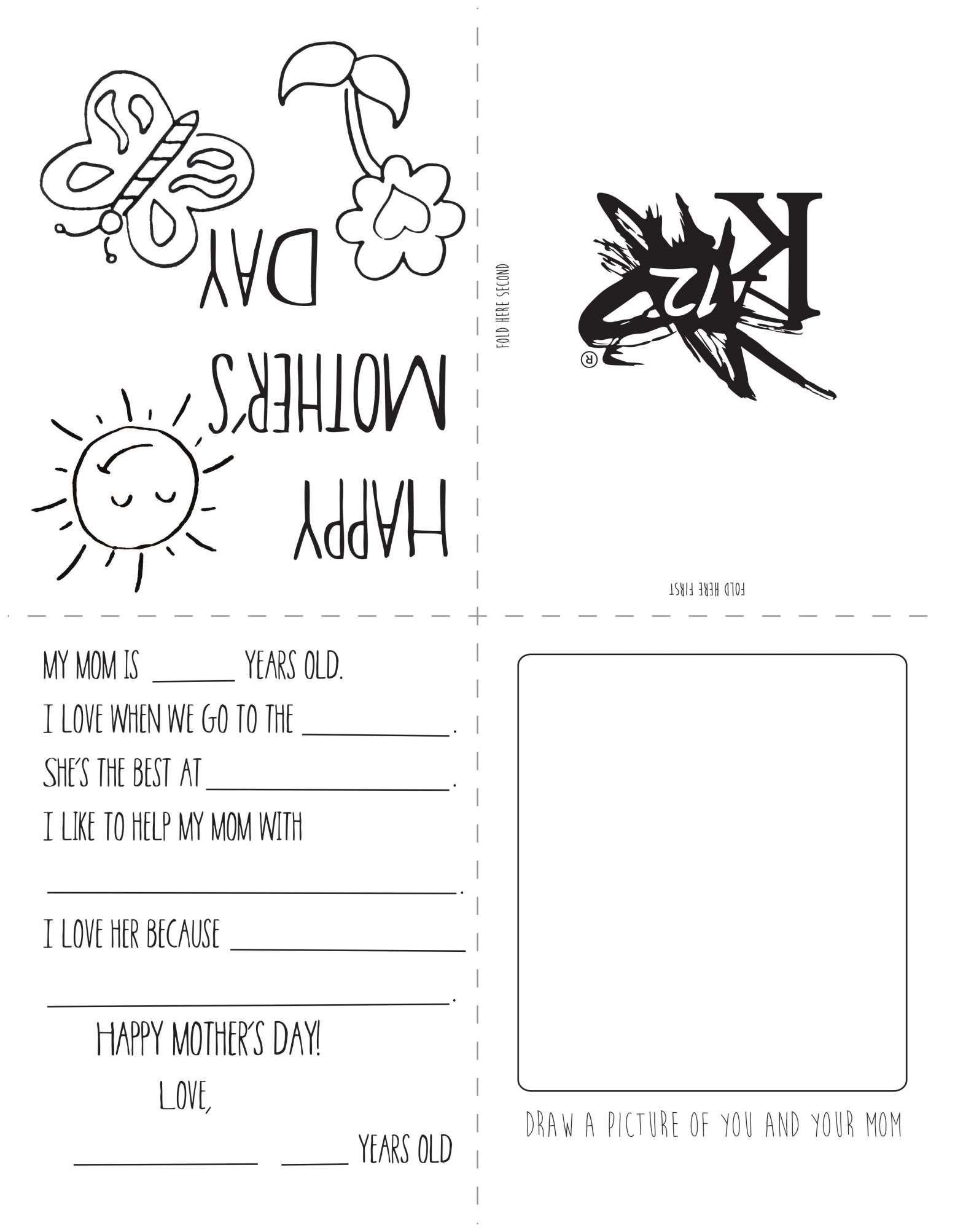 7 Mothers Day Worksheet Preschool Preschool Printable Sheets Com Mothers Day Card Template Mother S Day Printables Mothers Day Coloring Cards