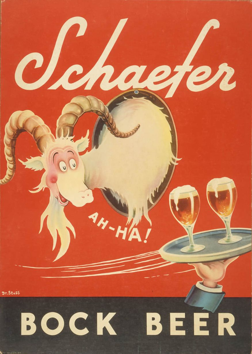 Bock Beer ad, Dr Seuss, 1937 | Theodor Seuss Geisel: The Art of Dr ...