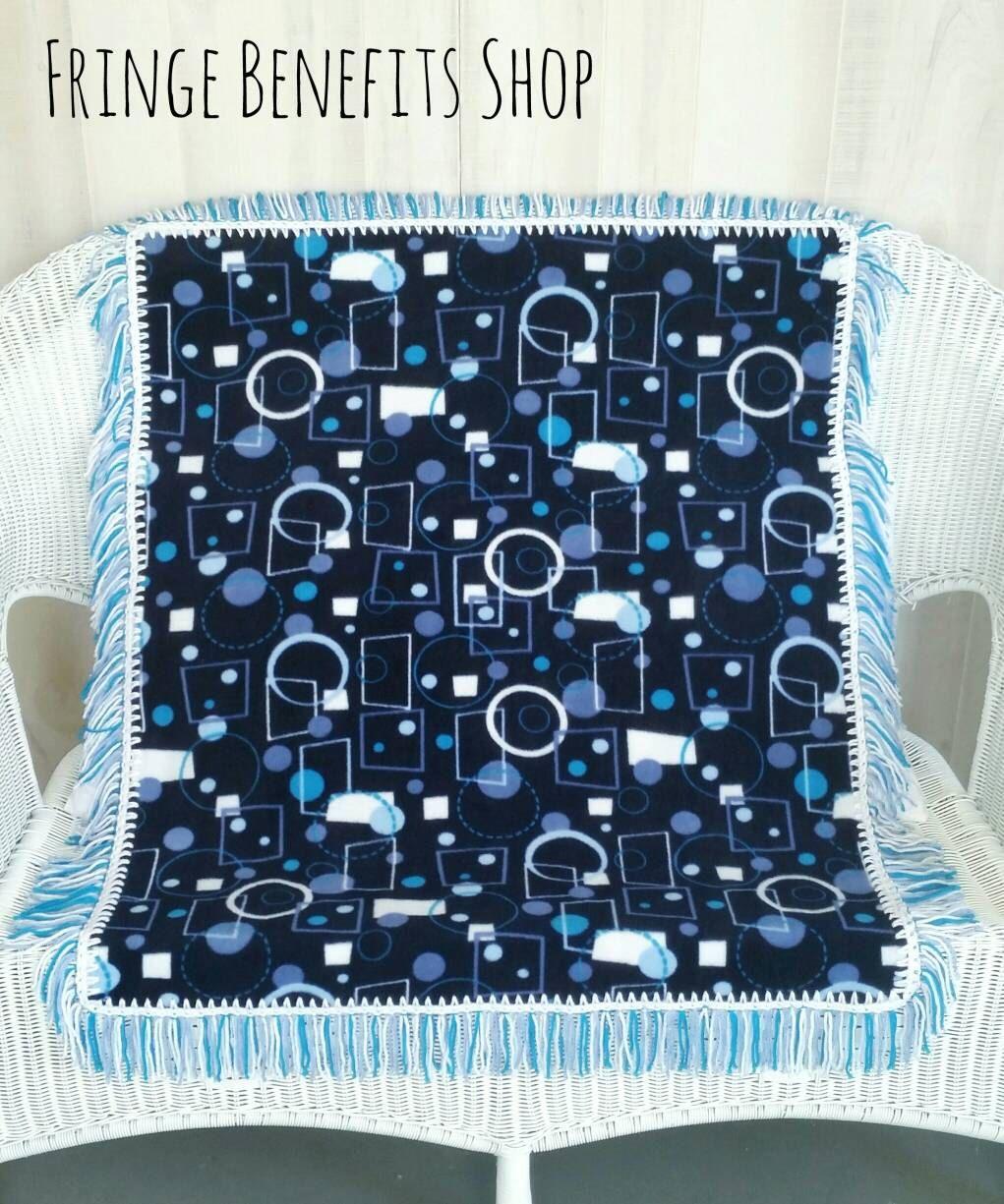 Geometric blanket, Baby boy blanket, Toddler boy blanket, Baby shower gift, Fringe blanket, Fleece blanket, Navy blanket, Crib blanket by FringeBenefitsShop on Etsy