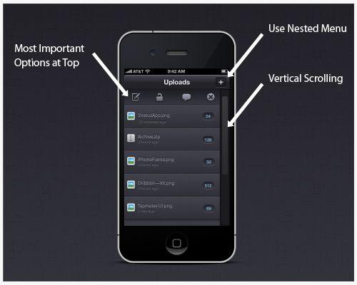 Image result for navigation options for mobile web designing