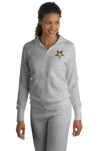 Eastern Star Embroidered Sport- Tek - Ladies Full- Zip Hooded Fleece Jacket. [EMBL265] : $61.95 - FreeMason Store
