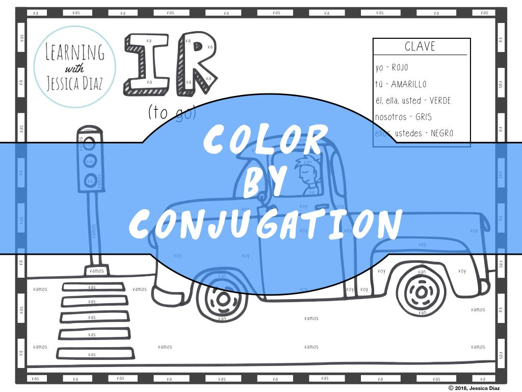 This Activity Gives Your Students A Chance To Practice Conjugating The Verb Ir To Go In A Fun Way Thro Present Tense Verbs Verb Conjugation Learning Spanish [ 768 x 1024 Pixel ]