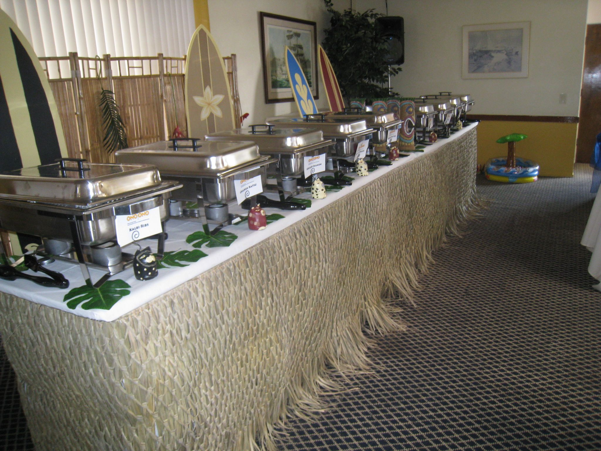 buffet setup for wedding wedding luau buffet table set upjpg