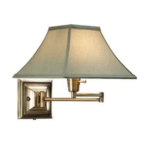 Home Decorators Collection Kingston 1 Light Bronze/Copper Swing Arm Pin Up  Lamp