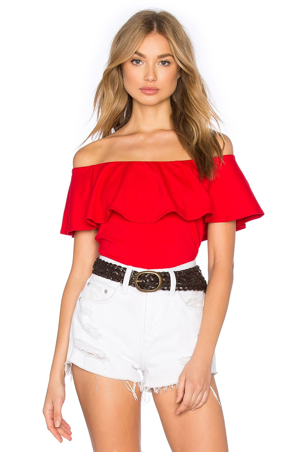7d5e5e381d SUSANA MONACO SUSANA MONACO RUFFLE OFF SHOULDER TOP IN RED. .  susanamonaco   cloth  dress  top  shirt  pant  coat  jecket  jacket  shorts  ski