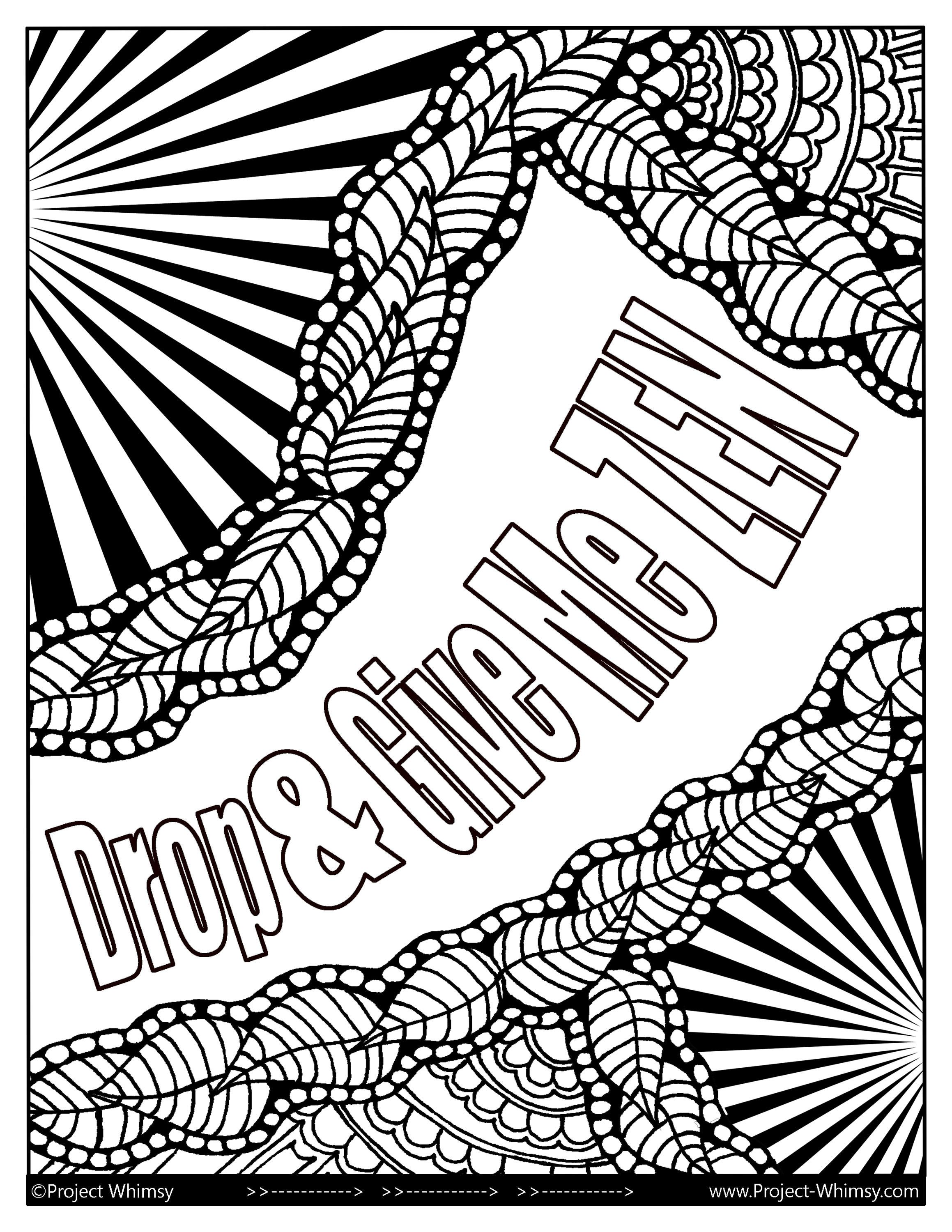Drop Give Me Zen Adult Coloring Book Instant Download