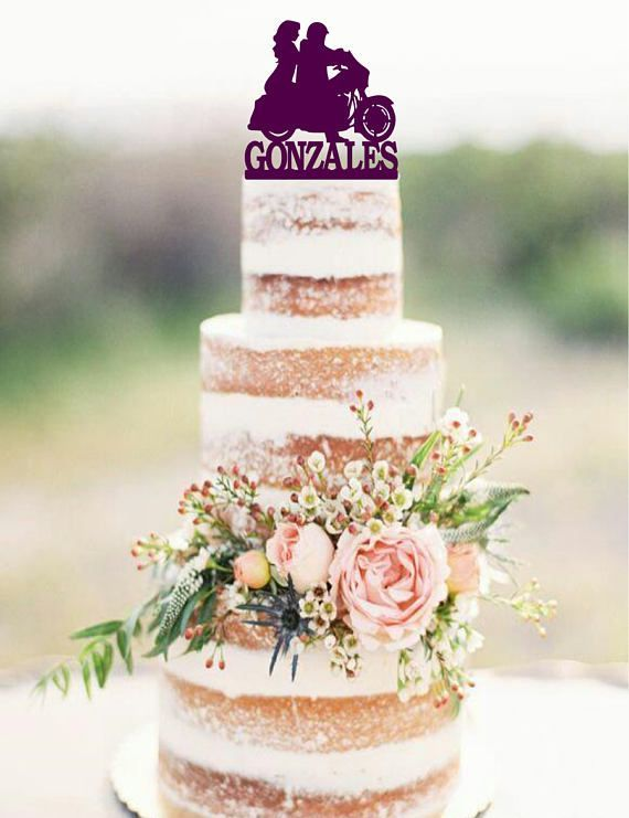 Motorcycle Wedding Cake Topper with surname Motorcycle Cake Topper Custom wedding cake topper Motorcycle Wedding Cake Topper with surname Motorcycle Cake Topper Custom we...