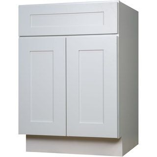 Everyday Cabinets Swhv2721 White Wood 27 Inch Single Sink Bathroom