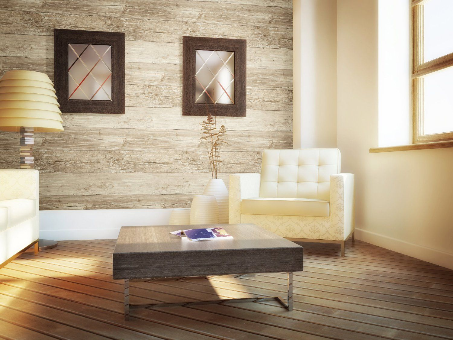 Wall In A Box Wib1010 Weathered Wallpaper Ash Pine Oak Sand Beige Brown Aged Wallpape Wood Wall Covering Living Room Design Inspiration Wood Wallpaper Living room wood background