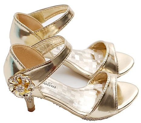 8310c0d26407 Fabulous LIttle Girls Heels - GOLD - Shoes. Velcro closure